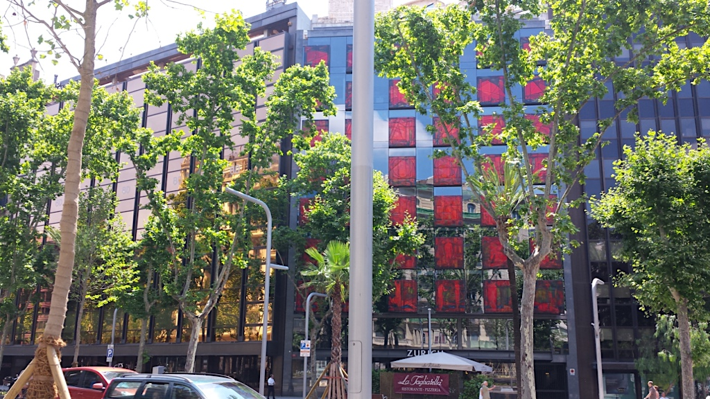Barcelona is an example of modern architecture