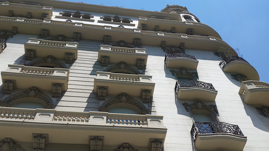 building façade in Diagonal Barcelona