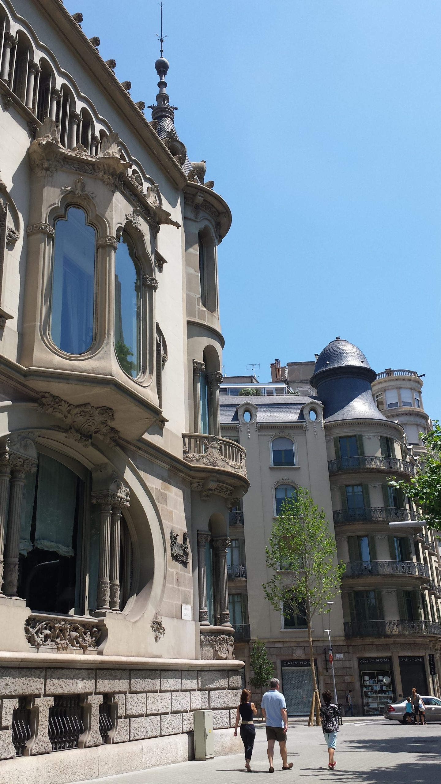 "a huge oval window overlooking Diagonal… locals call it the ""fishbowl of Barcelona""."