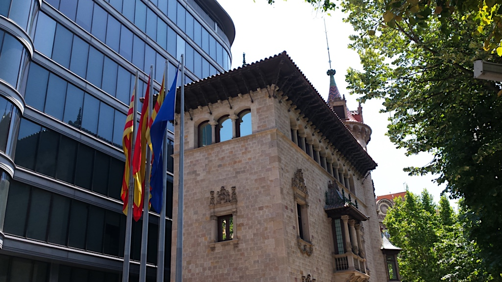 Barcelona Provincial Council is a public institution in Catalonia that provides direct services to citizens, it is located in the corner with Rambla Catalunya