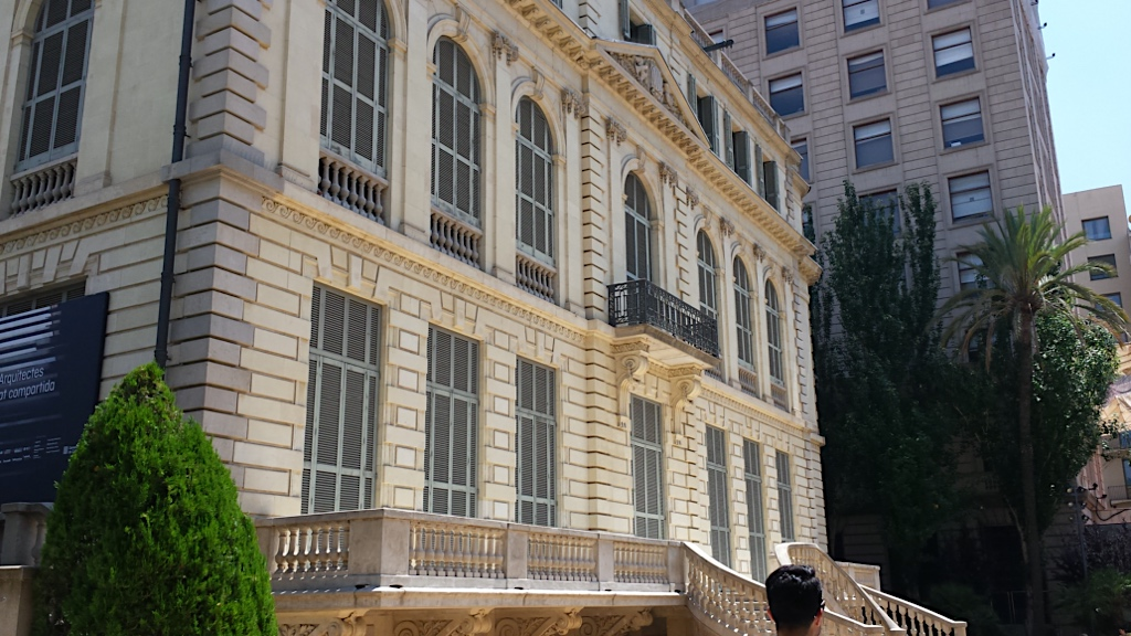 Palau Robert is a neoclassical building on Barcelona's Passeig de Gràcia with Diagonal Avenue