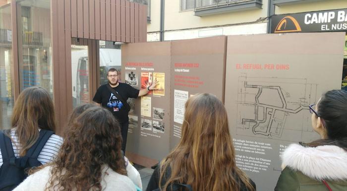 Bomb shelters in Barcelona  - Plaça del Diamant